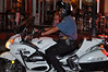 A Colorado Springs Police Officer Motorcycle Unit patrolling Tejon Street during Pikes Peak Hill Climb Fanfest 2012.