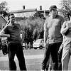 """Dorchester Day benefit softball game at Town Field (1977). Political players include City Councilors Albert """"Dapper"""" O'Neil, Patrick F. McDonough and Larry DiCara, State Rep. Barney Frank, and State Senator Michael LoPresti Jr,"""