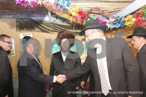 Politicians Dining At  Ezra Friedlander Sukkah