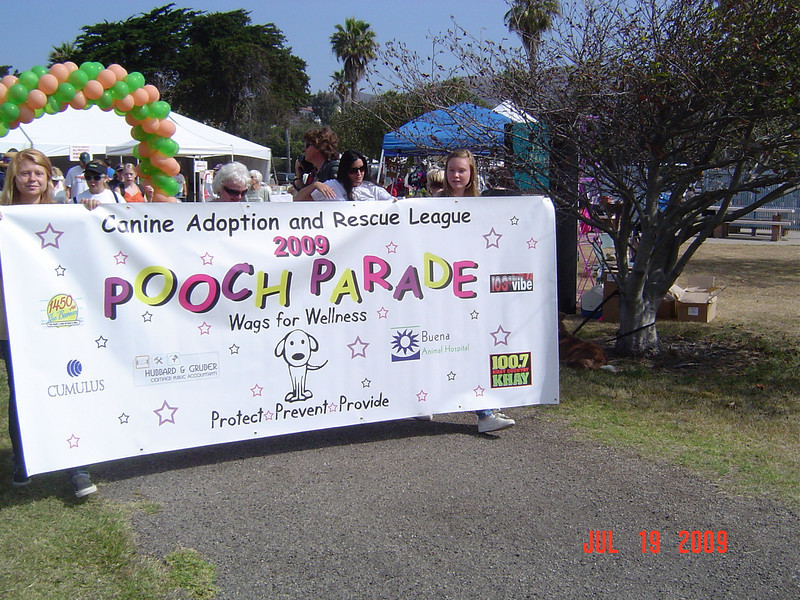 At the start line of the Pooch Parade