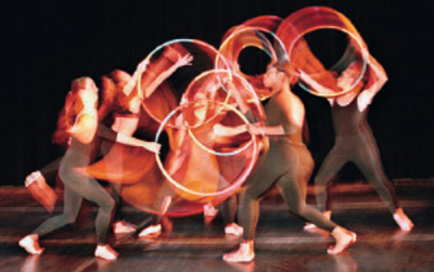 Dancers at Miami University in Oxford, Ohio.
