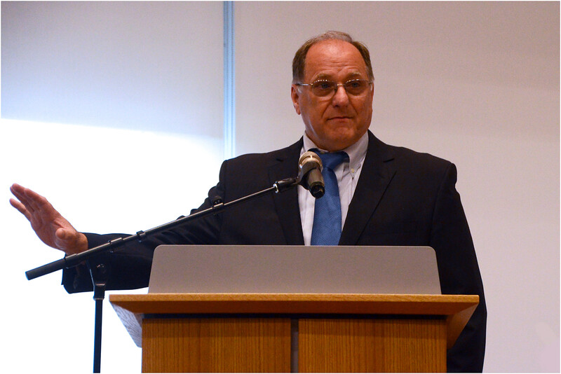 US Rep. Mike Capuano, during a brief appearance at a candidate forum August 1 in Roxbury.