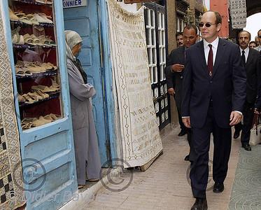 *legende* Visite de SAS Le Prince Albert au Maroc fin octobre 2002