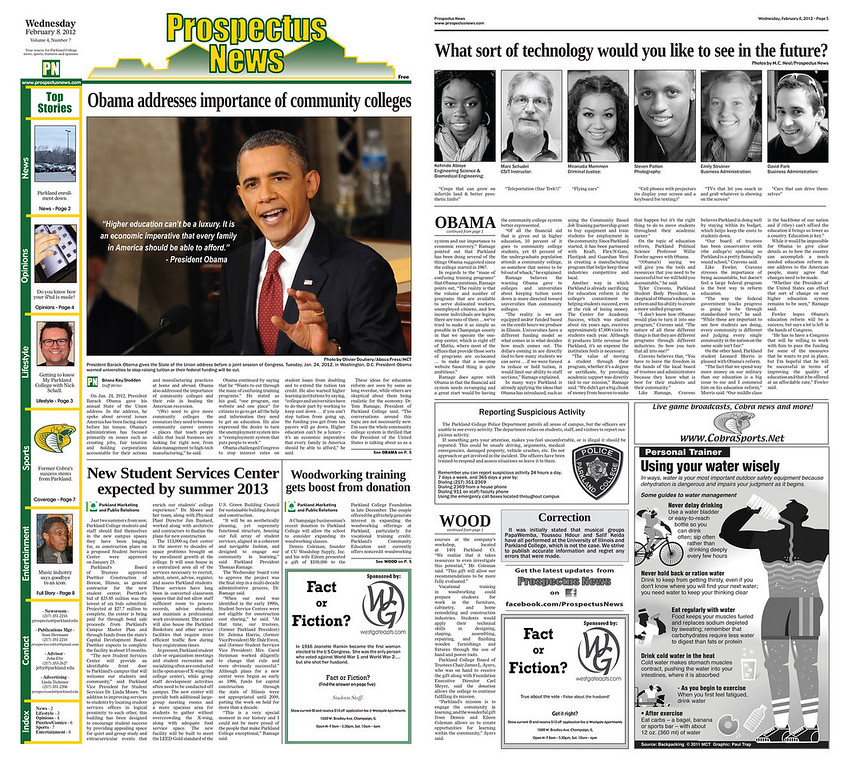 "To view story online visit: <a href=""http://www.prospectusnews.com/obama-addresses-importance-of-community-colleges-1.2770298#.UL-09JPjlJU"">http://www.prospectusnews.com/obama-addresses-importance-of-community-colleges-1.2770298#.UL-09JPjlJU</a>"