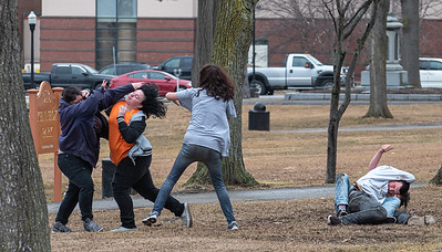 A heated verbal argument turned into a brawl in Kennedy Park Thursday afternoon.  Police responded to the incident and issued criminal trespas warnings to all the individuals involved and moved them along.