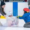 Children improvise and get help learning to skate during public skating at the Androscoggin Bank Colisee in Lewiston on Tuesday, February 18, 2020.