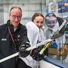 EL/Leavitt/Poland girls' hockey coach Dana Berube keeps his daughter in check on the ice while balancing being a dad and coach.