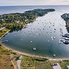 An aerial view of Mackerel Cove on Bailey Island on Sunday afternoon, September 30, 2018.  (Russ Dillingham/Sun Journal Aerial)