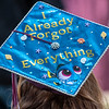 The majority of seniors at Buckfield High School decorated their mortarboards.