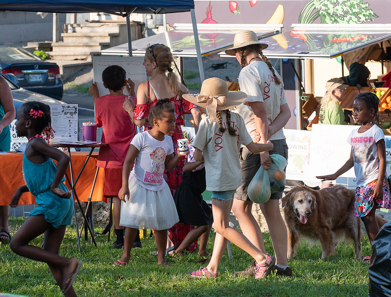 Activity from Tuesday night's Community BBQ on Bartlett Street in Lewiston. Part of Growing Healthy Neighborhoods monthly Community Dinners which aims to bring neighbors together and inform them about the massive Growing Our Tree Streets project.