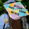 Many of the seniors at Spruce Mountain High School went all out decorating their mortarboards.