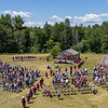 The Buckfield Class of 2021 file into their graduation Saturday afternoon just outside the school in Buckfield.