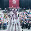 The Edward Little Class of 2018 march into the Androscoggin Bank Colisee in Lewiston Saturday night at the start of the one hundred and ninety-fourth graduation exercises. (Russ Dillingham/Sun Journal)