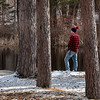 Josh Chessey, of Minot, tries his luck fishing at the North Dam Picnic Area on Lake Auburn off Lake Shore Drive in Auburn, Maine Tuesday morning, March 31, 2020. The Poland High School student is out of school and not working because of the cornoavirus pandemic.