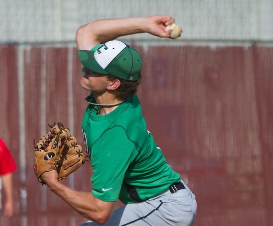 SAM HOUSEHOLDER | THE GOSHEN NEWS Concord pitcher senior Jake Vernon throws a pitch against Goshen Friday.