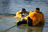 A person and their dog through the ice at Nancy Lewis Park rescued by Colorado Springs Firefighters. December 19, 2013