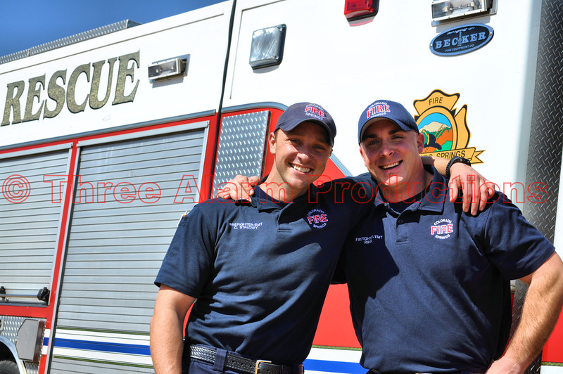 Craig Stalowy and Eric Riker with CSFD Heavy Rescue 17.