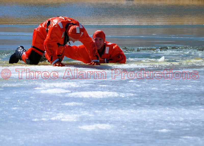 Rescuers Craig Stalowy and Eric Riker with Colorado Springs Heavy Rescue 17.
