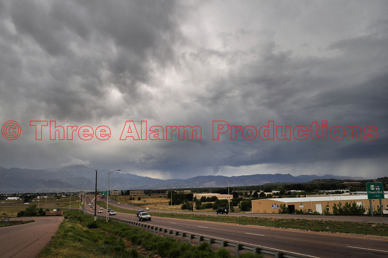 Storms moved into the area on the afternoon of July 10, 2013. The runoff from these storms flooded some areas of Black Forest and also U.S. Highway 24, in Manitou Springs.