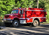 Manitou Springs Fire Engine 2 responding code 3, to the Highway 24 mudslide incident.