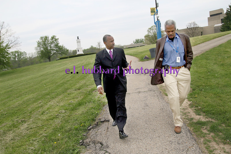 E.L. Hubbard for Newsday<br /> The Rev. Floyd Flake, president of Wilberforce University, gives a tour of the grounds to Newsday reporter Martin Evans Friday, 05/04/07.