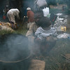 Refugees spend several nights outdoor.<br /> Rwanda, November 1996.<br /> <br /> © Laura Razzano