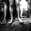 In the prison there is no space to lie down or sleep.<br /> Rwanda, Prison of Gitarama, November 1996.<br /> © Laura Razzano