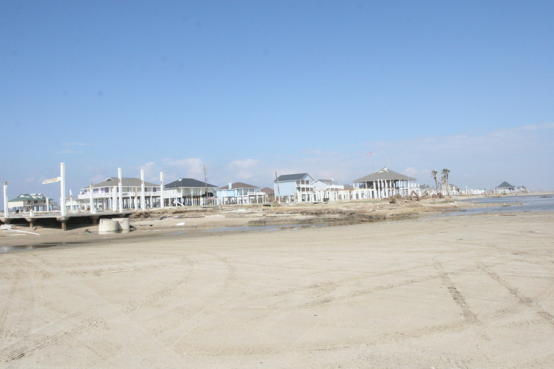 Sandpiper Subdivision from the beach at the end of Beaumont Drive.