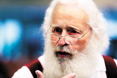 Dennis Blandon talks about his experience being Santa at the Buckeye Santa School. BRUCE BISHOP/CHRONICLE