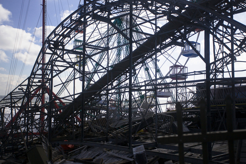 Coaster, with Wheel in Background