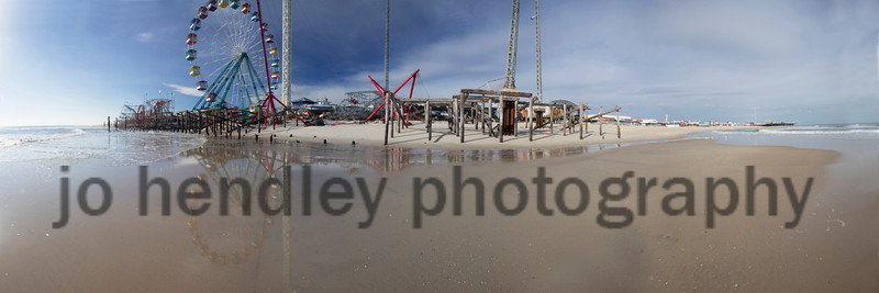 21 frame Funtown Pier Panoramic... This Print can only be ordered in 3 to 1 ratio