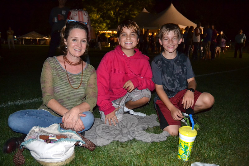 EH_ Newtown Arts Festival, Stephanie Barnes, Juliano Barnes, and Nick D'Amico at Sawyer Fredericks concert