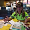 SH_traffic agent Kat Holick retiring -- Holick with notes & cards