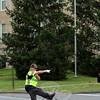 SH_Holick retiring as traffic agent -- directing traffic at Hawley 04