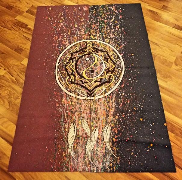 AS_ Yoga Mat Art Show_ two painted mats