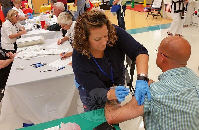 JV_2017 Health & Public Safety Fair - Basham, Edwards flu shot