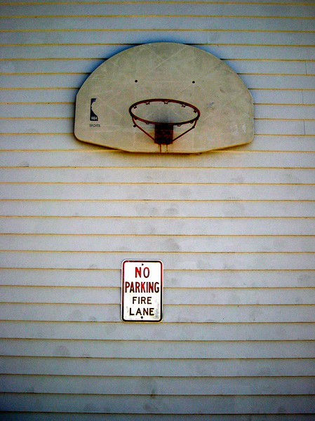 In the lane
