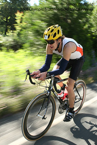 2000 Triathlon Olympic Gold Medal winner Simon Whitfield in the 2005 World's Toughest Triathlon in Auburn California.