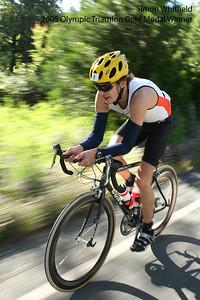 2000 Triathlon Olympic Gold Medal winner Simon Whitfield in the 2005 World's Toughest Triathlon in Auburn California.