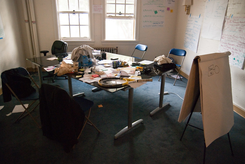 The remains of some 70 days: The work is done, the rooms are orphaned – but still bearing witness of creative sessions meant to bring about a better tomorrow.