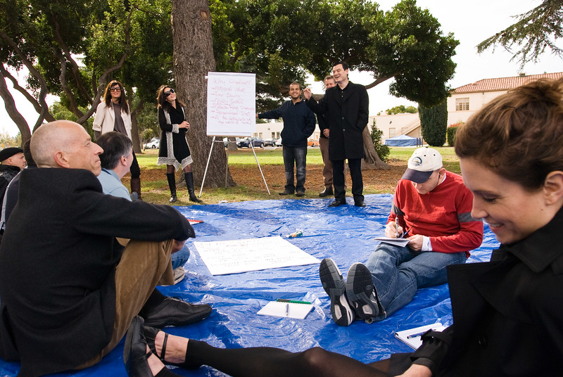 A group session presentation at SIngularity University's first executive program in November 2009.
