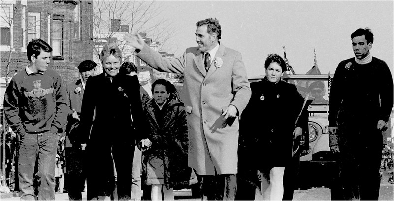Former Boston Mayor Ray Flynn and family.