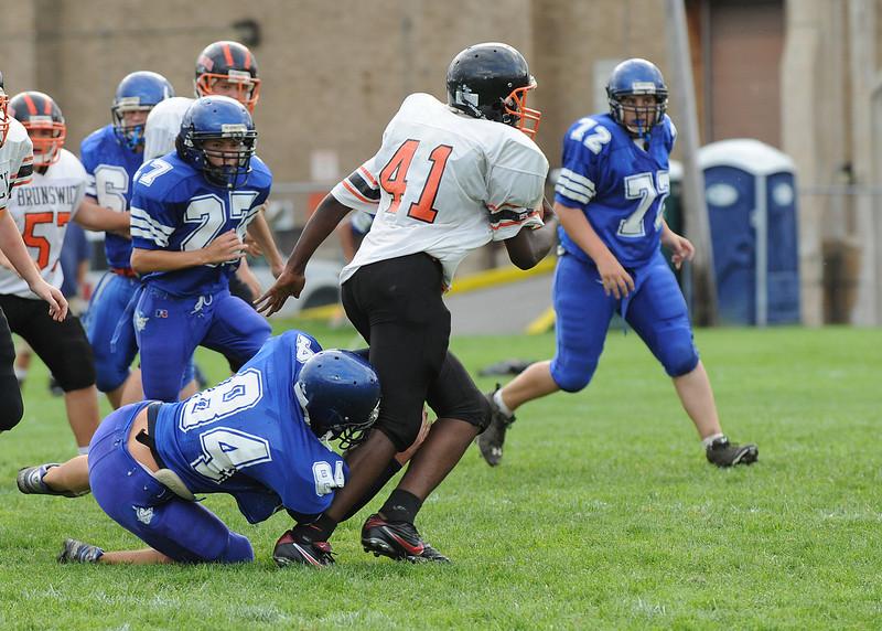Lewiston High School Freshman football vs. Brunswick at LAP on 9/8/11