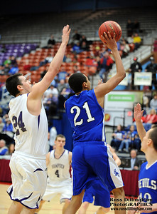 Lewiston High School at the Augusta Civic Center for basketball tournament game in February 2013