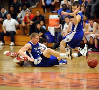 Lewiston at Edward Little boys basketball in Auburn.