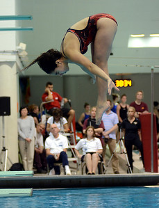 2/19/12 Boston- Westborough's Jessica Neuwirth competes in diving during Sunday afternoon's State Final swim meet at Harvard's Blodgett Pool Photo by Sean Browne, MetroWest Daily News