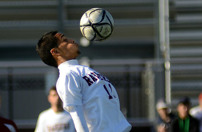 11/10/12 Lynn- Watertown's Juan Nieto-Lopez settles the ball at mid field during Saturday afternoon's game versus Newburyport. Photo by Sean Browne, Watertown Tab