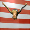 Aaliyah Smith, 11, of New Castle, Pa., competes in the floor exercise event during the 12th annual Stars & Stripes Invitational gymnastics competition at the Bayfront Convention Center in Erie, Pa. on Sunday, Jan. 13, 2013.