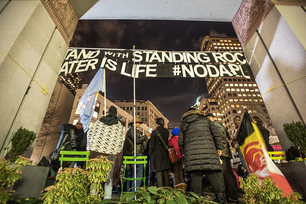 Stand with Standing Rock Seattle Jan 24 2017