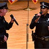 Performance of national anthem by Boston Police Officers Kim Tavares <br />  (right) and Stephen McNulty (left).